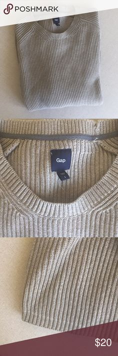 NWT Gap Men's sweater cream L Thick and cozy sweater 100% cotton GAP Sweaters Crewneck