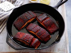 Saving this for my son. Blackened Salmon Recipe : Alex Guarnaschelli : Food Network - FoodNetwork.com