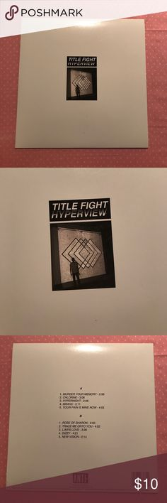 "Title Fight Hyperview 33"" Vinyl Record Title Fight, 33"" album HYPERVIEW in perfect condition. Vinyl, vinyl casing and cover are all like new. Record Other"
