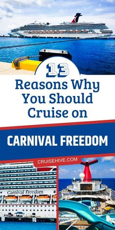 How about a cruise on Carnival Freedom? All the things travelers can do on the Carnival cruise ship along with tips for making sure you have the best vacation at sea with rooms and activities. Best Cruise, Cruise Port, Cruise Tips, Cruise Travel, Cruise Vacation, Family Cruise, Carnival Cruise Freedom, Carnival Dream Cruise, Cruise Offers