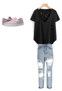 """Untitled #42"" by kennedy-lewis-1 on Polyvore featuring Boohoo and Vans"