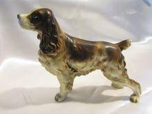 Vintage Lefton Springer Spaniel Dog Statue, 1950's..
