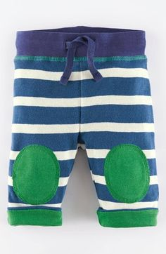 Mini Boden Knee Patch Reversible Cotton Pants (Baby Boys) available at #Nordstrom