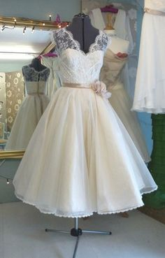 50s Lace Wedding Dress ♥♥