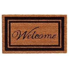 """Home & More Border Welcome Doormat Rug Size: 1'6"""" x 2'6"""", Color: Black"""