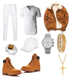 """""""Untitled #20"""" by tomasi-nasau on Polyvore featuring LE3NO, Dsquared2, Timberland, JayWalker, Palm Beach Jewelry, SO & CO, SteelTime, men's fashion and menswear"""