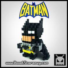 Black Batman 3D Voxel Perlerbead (#Batman, #DcComics) - Thumbnail 1