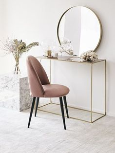 Best 35 Home Decor Ideas - Lovb Art Deco Furniture, Dining Furniture, Interior Decorating, Interior Design, Makeup Rooms, Beauty Room, Upholstered Chairs, New Room, Interior Inspiration