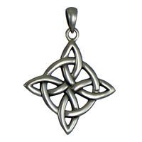 Sterling Silver Witches Quaternary Celtic Knot Wiccan Pagan Pendant Jewelry for sale online Bijoux Wiccan, Clara Berry, Pentagram Necklace, Pendant Jewelry, Pendant Necklace, Knot Tattoo, Witch Jewelry, Celtic Tree Of Life, Celtic Designs