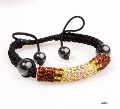 $4.57  52x9mm Bracelet Jewelry Findings Tube Shape Multi-Color