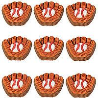 Baseball mitt cake decorations