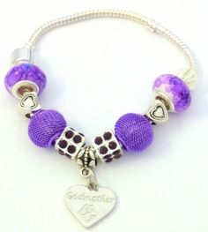 Purple Godmother Charm Bracelet - Unique Inspired Gift Ideas From Tain Brae World