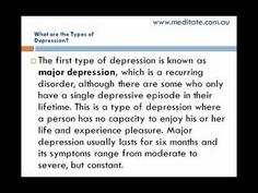 Different Types of Depression: Many Shades of Blue