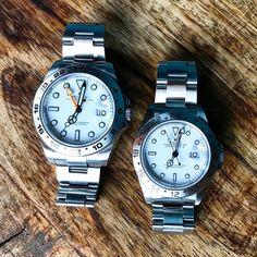 New (orange) & old (red) alike. Rolex Gmt, Rolex Submariner, Rolex Watches, Dream Watches, Sport Watches, Cool Watches, Rolex Explorer Ii, Watch Companies, Luxury Watches For Men