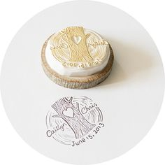 hand carved stamp. Perfect for a wedding! #wedding #bride