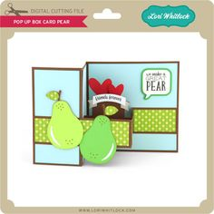 Pop up box card boxcard with pears friends anniversary