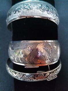 Silver Bangle by spirithorsegems on Etsy, $20.00