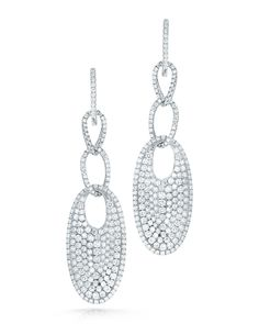 Roberto Coin FANTASIA DIAMOND EARRINGS 18K White Gold Earrings with Diamonds Approx. 4.40 total carat weight
