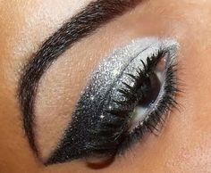 love the eyebrow arch and the cats eye style eye shadow