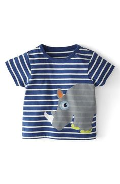 Mini Boden 'Stripy Animal' print T-shirt. Because that rhino has such a friendly, curious expression!