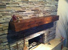 Knotty Alder wood mantel by sundancemantels on Etsy, $350.00