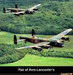 Pair of Avro Lancaster's - Pair of Avro Lancaster's - iFunny :) Ww2 Aircraft, Military Aircraft, Lancaster Bomber, Funny Car Memes, Aircraft Painting, Ww2 Planes, Aircraft Design, Aircraft Pictures, Royal Air Force