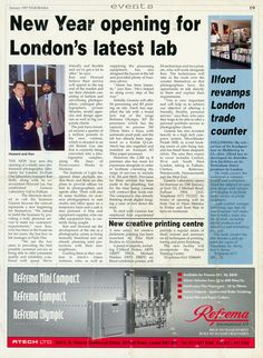 With Genesis' 17th birthday at the beginning of this week, we've been digging in the Genesis archives to find our very first press piece – written by Panorama in January 1997…  Genesis Laboratory Limited opened (a week later than mentioned on the article) on January 20th 1997. Read at http://www.genesisimaging.co.uk/blog/17thbirthda/ #photography #genesis #photographic #lab #panorama