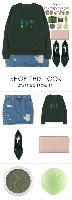 """""""it's always been you"""" by sophieelise97 ❤ liked on Polyvore featuring Monki, Casadei, Love Quotes Scarves, Kate Spade, Bare Escentuals, Guide London and Polaroid"""