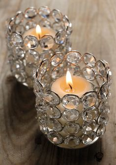 Diamond Candle Holders (Set of Two)
