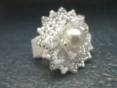 Peyote Ring Beaded Seed Bead Ring  Bling Ring by MadeByKatarina, $28.00