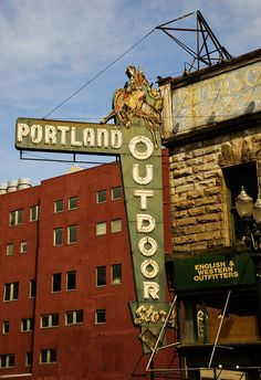 I love this old neon sign in downtown Portland, Oregon