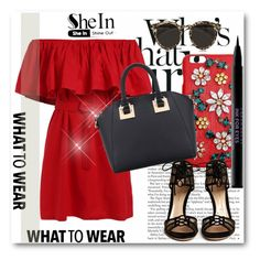 """Sheinside !!"" by dianagrigoryan ❤ liked on Polyvore featuring Dolce&Gabbana, Gianvito Rossi, Urban Decay and Illesteva"
