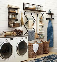 Laundry Room Organization-Ten Stylish Laundry Rooms You Can Copy-Rough Luxe Lifestyle