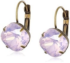 "Sorrelli ""Rose Water"" Single Crystal Drop Earrings - http://www.womansindex.com/sorrelli-rose-water-single-crystal-drop-earrings/"