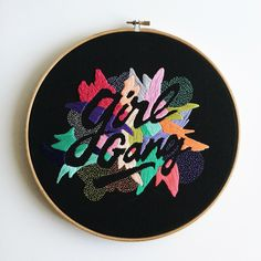 """Amazing hand-stitched lettering work by Venezuelan illustrator and designer Valeria Molinari.  """"As a creative person, I like drawing, printmaking, hand-lettering, sewing, animation, and ceramics; so, you can say I love to experiment, not only with styles and mediums but in general. I love adventure, knowledge, and exploration. In my practice, I like to mix it up with different mediums while playing with typographic elements, language, and its role in shaping society. In the past few year..."""