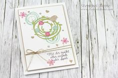 Stempel-Biene: Geburtstagskarte mit Stampin' Up! Swirly Bird