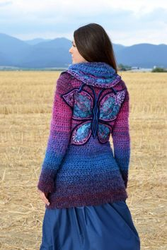 crochet jacket - I love this... gotta try making this!