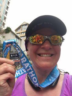 SAN DIEGO, CALIFORNIA - Rock'n'Roll San Diego Half Marathon 2016 medal - photo provided by Halfmarathonsearch.com Half Marathon Calendar USA Fan Shawna B.
