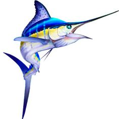 Original Vector illustration of a jumping sailfish. http://www ...