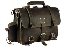 You are looking at the toughest and most functional classic leather briefcase on the planet. Hand made in the USA (see our About page) it is made of 100% full grain, thick boot leather with double stitched, polyester thread that will hold up to water, sun and most chemicals. It is