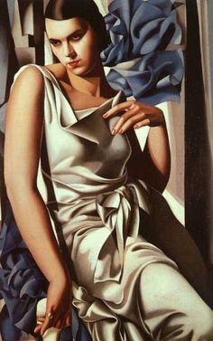 """Portrait of Madame M"", 1932, by Tamara De Lempicka (Polish-American, 1898-1980)"
