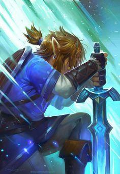 Link with the Master Sword   Legend of Zelda Breath of the Wild