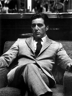 Al Pacino...Chillingly awesome as Michael Corleone.  Exactly as I pictured him from Puzo's book...