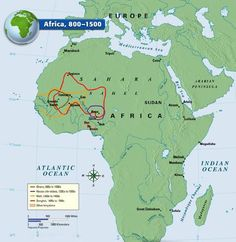 Senegal River Africa Map.The Spread Of Islam In Africa