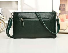 Green Fashion Casual Embossing Nappa Leather Messenger Shoulder Bags Green Fashion, Messenger Bags, Shoulder Bags, Casual, Leather, Shoulder Bag, Random, Casual Clothes