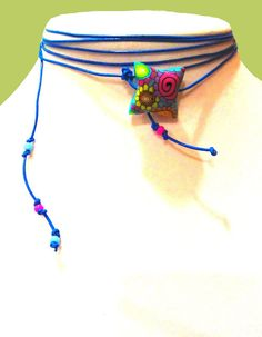 Etsy Mother's Day Boho Necklace Leather Necklace by ArtisticFunk, $20.00