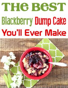Blackberry Dump Cake!  Craving a sweet and delicious dessert to try this week?  You're going to love this blackberry cheesecake cobbler! Blackberry Dump Cakes, Blackberry Pie Fillings, Easy Lemon Cheesecake, Blackberry Cheesecake, French Vanilla Cake, Vanilla Cake Mixes, Dump Cake Recipes, Easy Recipes, Lemon Desserts