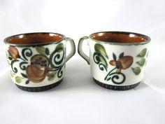 Boch La Louviere Belgium Argenteuil Handpainted Cups Mugs | eBay