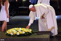 Pape François - Pope Francis - Papa Francesco - Papa Francisco – 26/05/2014 : voyage en Terre sainte, au Memorial de l'Holocauste de Yad Vashem