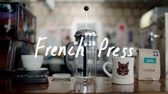 How to Brew Coffee in a French Press Tea Smoothies, Smoothie Drinks, French Diet, Vegan Thanksgiving Dinner, Coffee Cups, Coffee Coffee, Fresh Coffee, Cooking School, All The Way Down